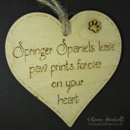 Springer Spaniels heart plaque