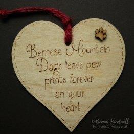 Bernese Mountain Dog heart plaque