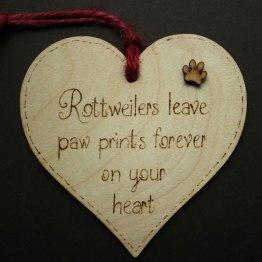 Rottweiler heart plaque