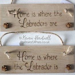 Labrador Wooden Plaques
