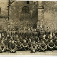 WWI Panoramic Photo Yardlong - 36th Division, 131st Machine Gun Battalion in French Street - Check the Detail!
