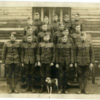 WWI 28th Division Mascot Dog Photo - Jack Russell Terrier Wearing a Vest and OS Chevrons!