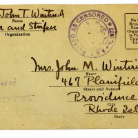 WWI Stars and Stripes Editor John T. Winterich Original Wartime Autographed Postcard