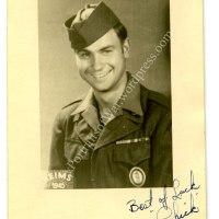 WWII Identified Portrait Photo - Roxbury, MA and Rockland, TX Veteran Ernest Chekoulias 295th Engineer Battalion
