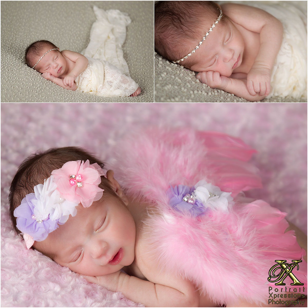 baby with pink wings