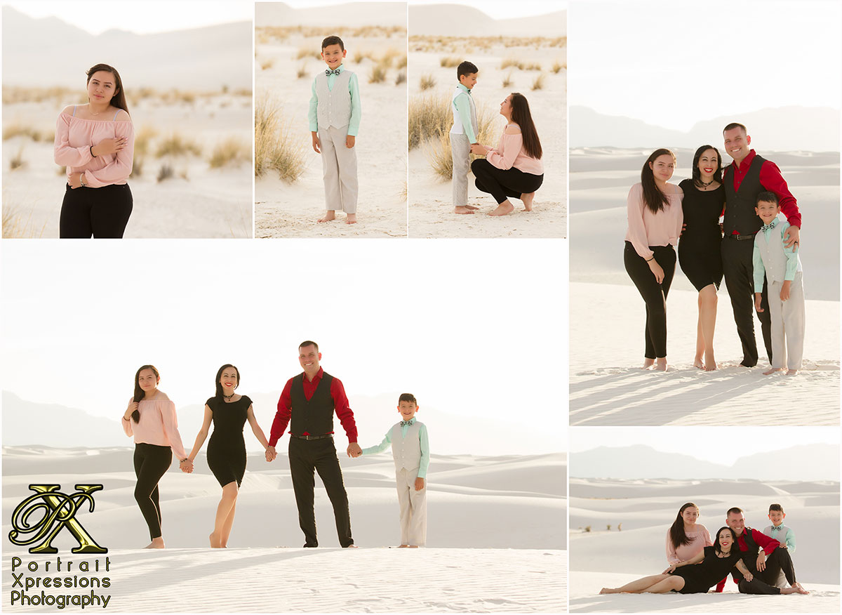 family portrait session at White Sands National Monument