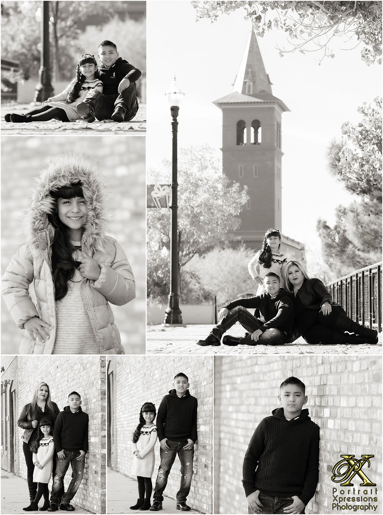downtown El Paso family photography session
