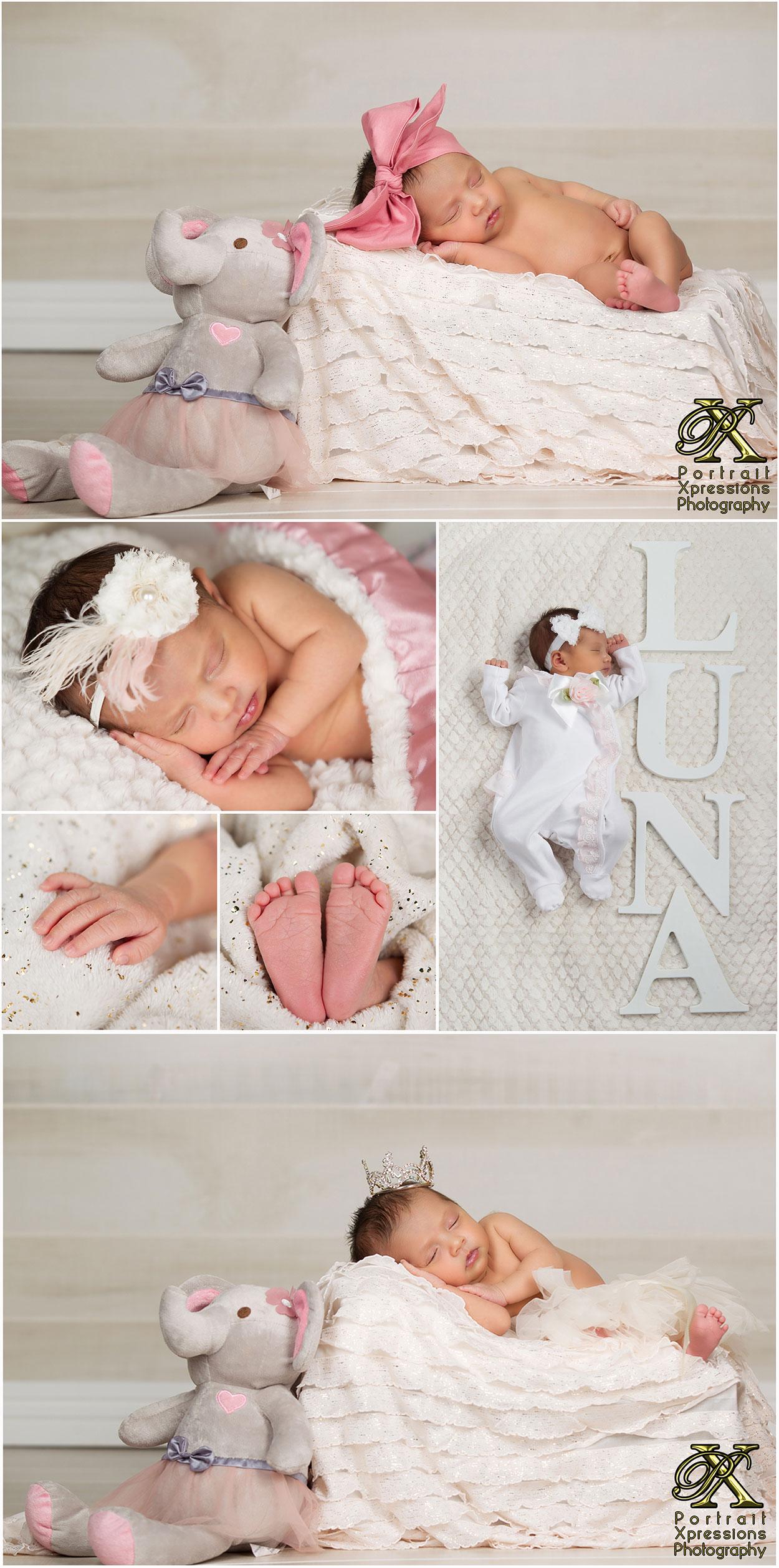 newborn portraits in El Paso studio