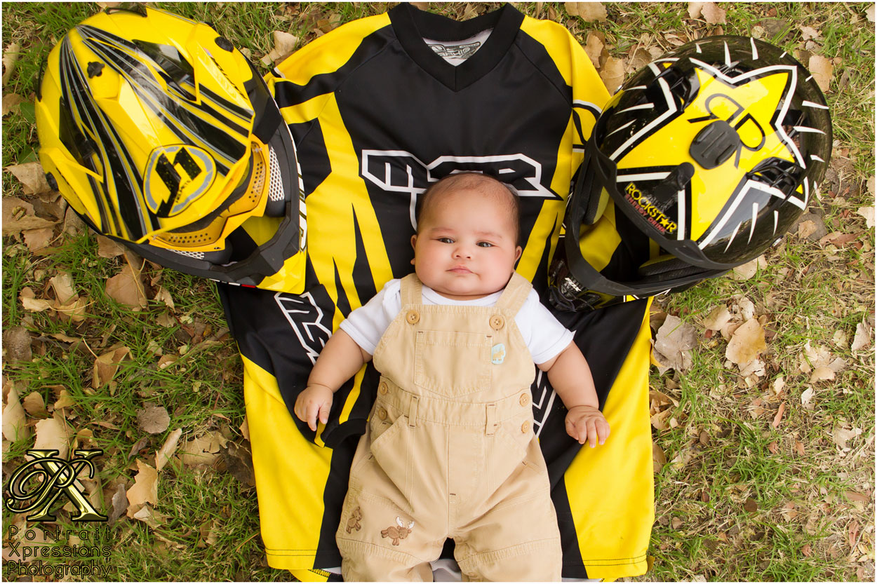 motocross themed baby session