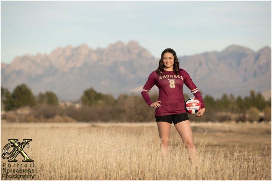 Andress High School volleyball senior