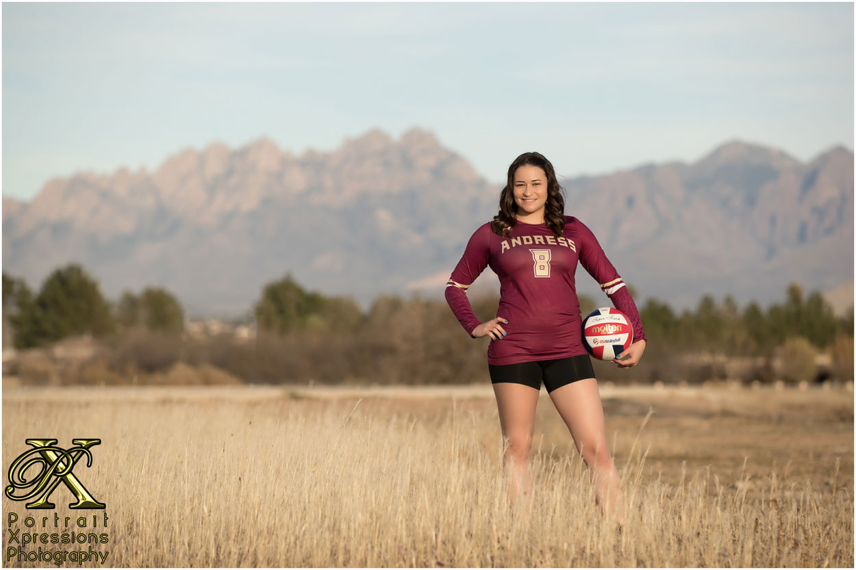 Andress High School volleyball senior