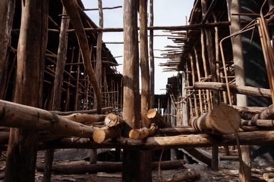 Baugerüst in Bahir Dar