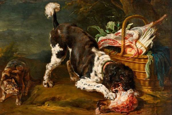 Картины собак и кошек. Пауль де Вос, картина 1620 г ...