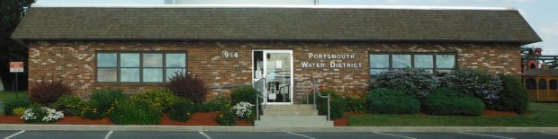 Front of PWFD headquarters building. 1944 East Main Rd