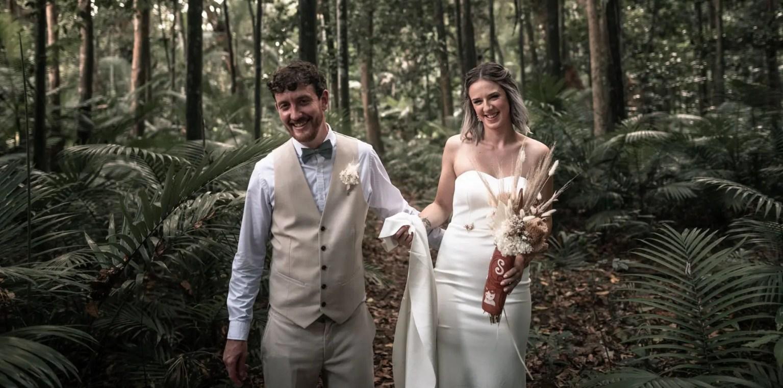 Rainforest wedding photography port douglas