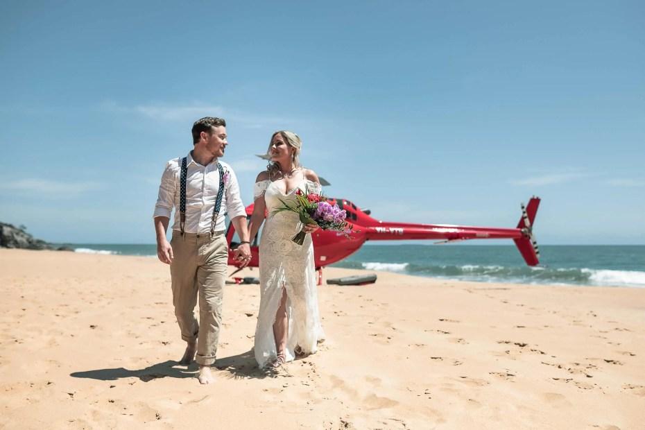 Port Douglas Helicopter wedding elopement turtle bay