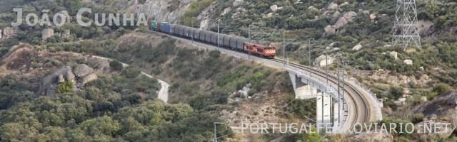 A linha da Beira Alta apresenta grandes constrangimentos a necessitar de resolução - traçado sinuoso e com muitas rampas penalizantes.