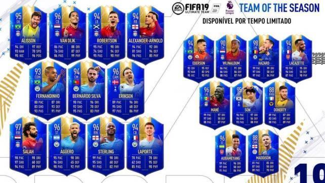 FIFA 19 com jogador Português na Team of the Season da Premier League
