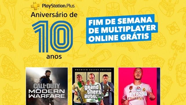 PS Plus grátis do Modo Multijogador Online disponível nos dias 8 e 9 de agosto