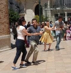 A bit of outdoor dancing