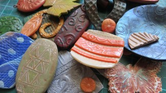 I started planning a Polymer clay workshop. I will be holding TWO workshops in June. One on Textures and another on Patterns.