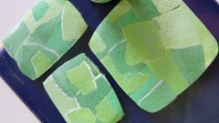 and made some experimental pieces. These remind me of how England looks from a plane window ,