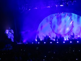 We were there to see Brit Floyd , a band that plays Pink Floyd music .