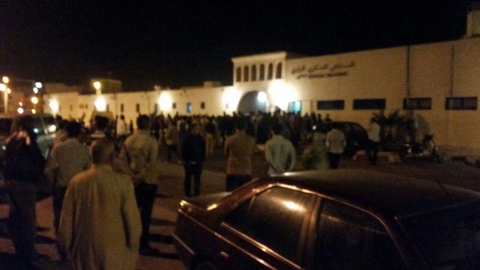 Hospital Militar de Dajla tras conocer la noticia del fallecimiento de Hassana Elouali