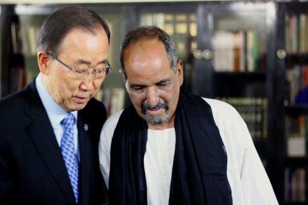 Ban ki Moon y Mohamed Abdelaziz.