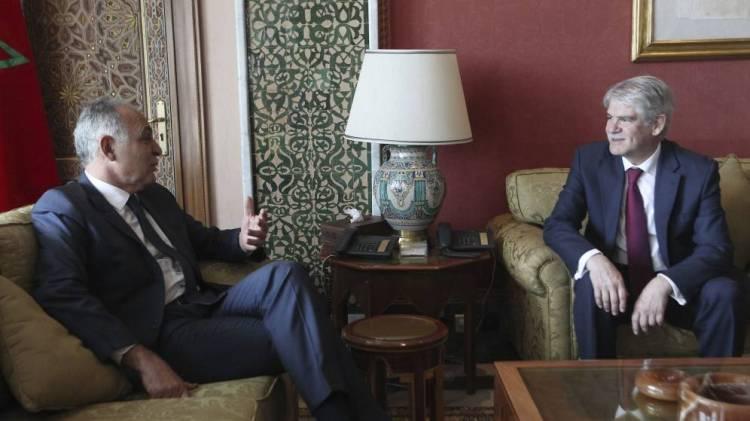 Ministros de Exteriores de España y Marruecos, Alfonso Dastis y Salahedín Mezuar