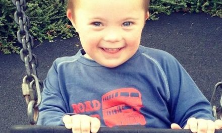 Down's Syndrome boy models for M&S