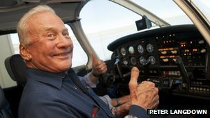 Buzz Aldrin bids to help people with disabilities to fly