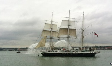 Tallship Lord Nelson sets sail on round-the-world voyage