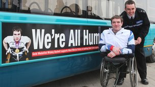 Paralympian Mickey Bushell launches disability hate campaign