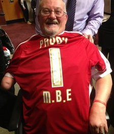 Disabled football fans' champion Paddy Cronesberry appointed MBE