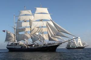 STI tall ships race start after Antwerp, 14 July 2010