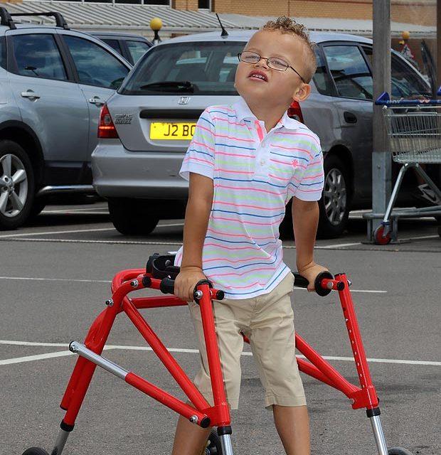 Tesco bars lad, 5, for using walking frame