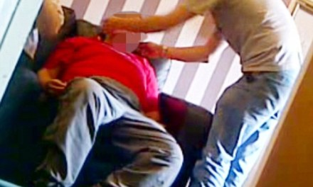 Care home worker caught on camera slapping a patient and pulling his ears as he slept