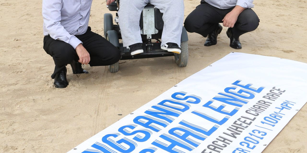 NORTH EAST HOSTS FIRST WHEELCHAIR BEACH RACE