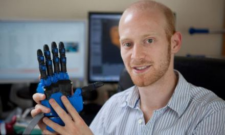 The 3D printed hand that could change the world: Graduate creates £600 robotic limb that could reduce production costs by 99%