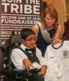 10-year-old Kai Shah to achieve his dream of scoring some time with the England football team!