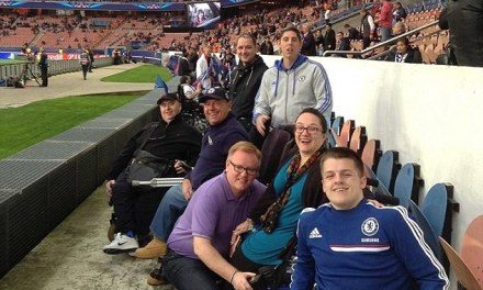 Disabled Chelsea fan recalls her ordeal after having coins, bottles and chewing gum thrown at them at PSG