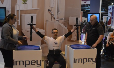 UK's strongest disabled man attracted crowds at Naidex 2014