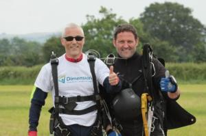 Mark Pearce's skydive