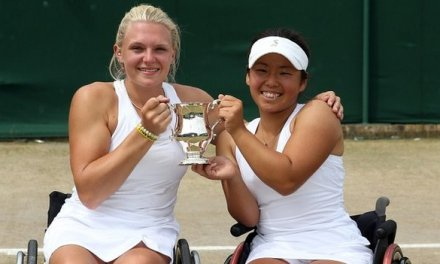 Jordanne Whiley wins wheelchair doubles