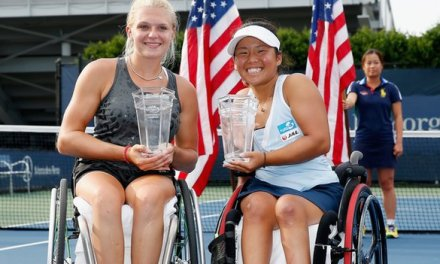 US Open: GB's Jordanne Whiley wins wheelchair doubles title
