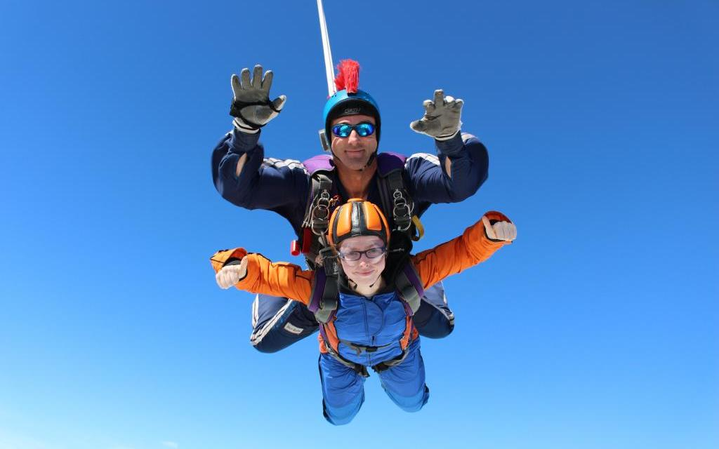 Student takes a leap of faith to raise £7,000 for deafblind charity