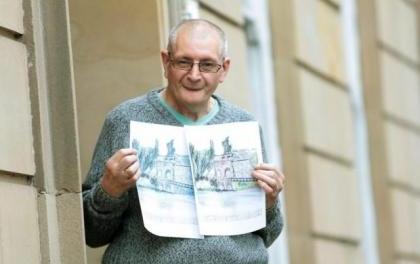 Artist Ian is Building Bridges for hospice's care scheme