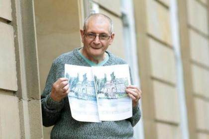Artist Ian is Building Bridges for hospice's care scheme