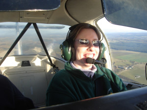 Scot Pauline Gallagher, who has athetoid cerebral palsy and moderate hearing loss, is organising a disabled flying relay so other people like her can boost their confidence by learning to fly.